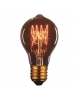60 Watt - Vintage Bulb - A60 Decorative Edison Bulb - 4.14 Inch Length - Medium E26 Base - 4 Loop Hand Wound Tungsten Filament - Multiple Support - Light Golden Glass